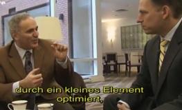 Garri Kasparow und Peter Thiel im Gespräch