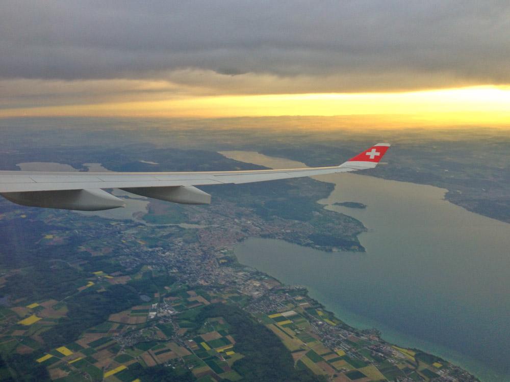 Anflug über Konstanz