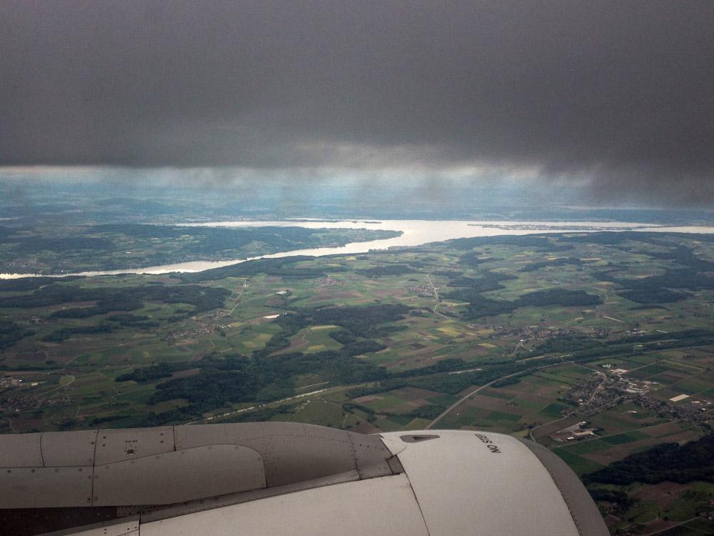 Regen über dem Bodensee