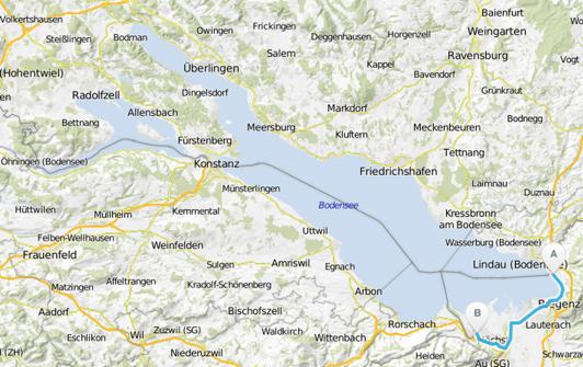 Bodensee-Radweg Österreich